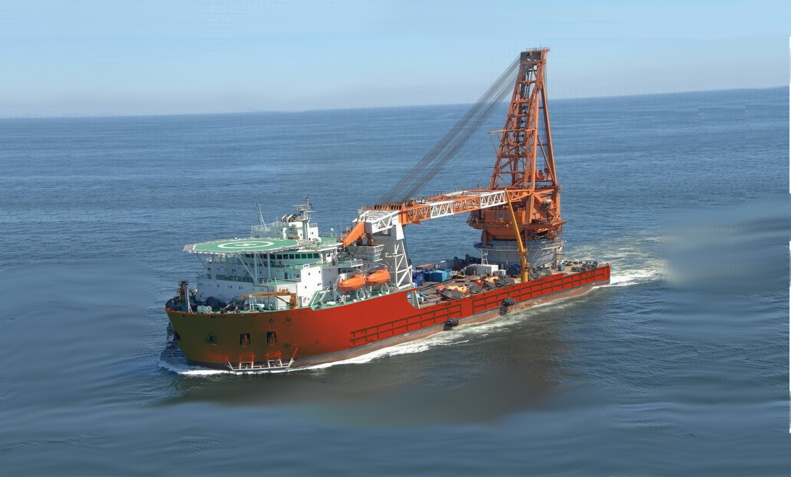 Derrick Pipelay Barge For Sale File-0205