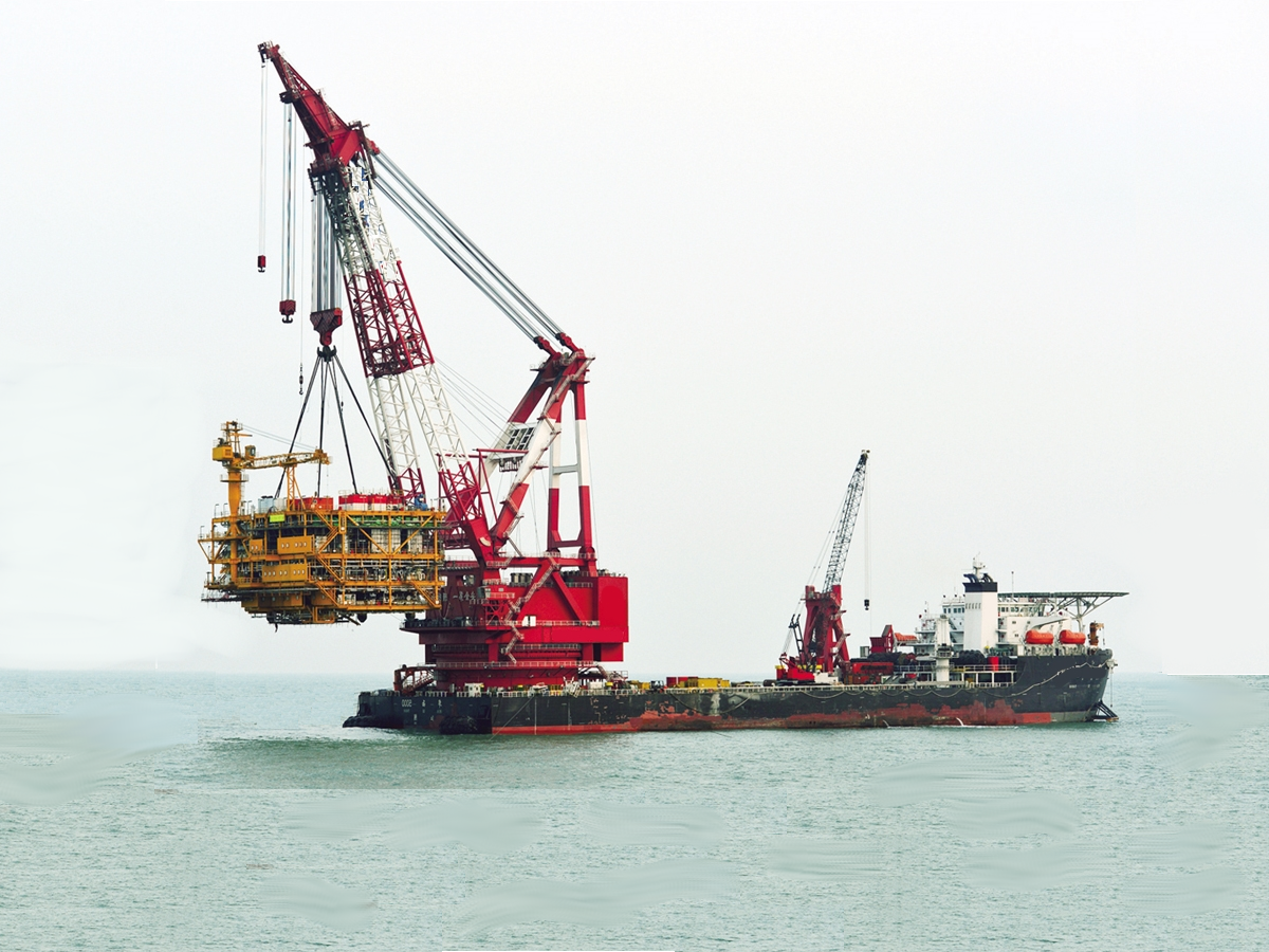 Derrick Pipelay Barge For Sale File-0207