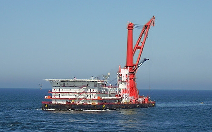 Derrick Pipelay Barge for Sale File-0212