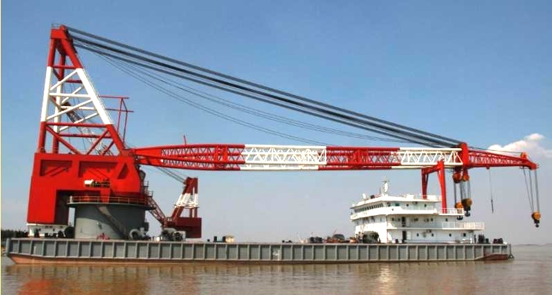 800 T Full Revolving Crane Vessel for Sale File-227